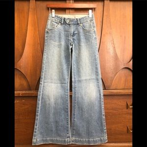 Levi's stovepipe leg blue faded jeans